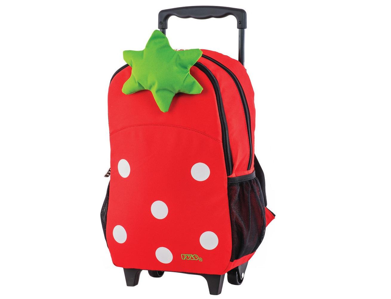 42315bdfa4 Τσάντα Τρόλεϋ Νηπιαγωγείου Polo Φράουλα - Lexicon Shop