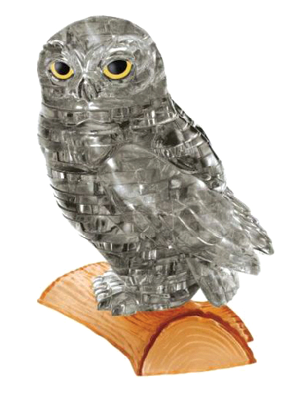 Owl (Μαύρη Κουκουβάγια) - Κρυστάλλινο 3D Παζλ - 90147