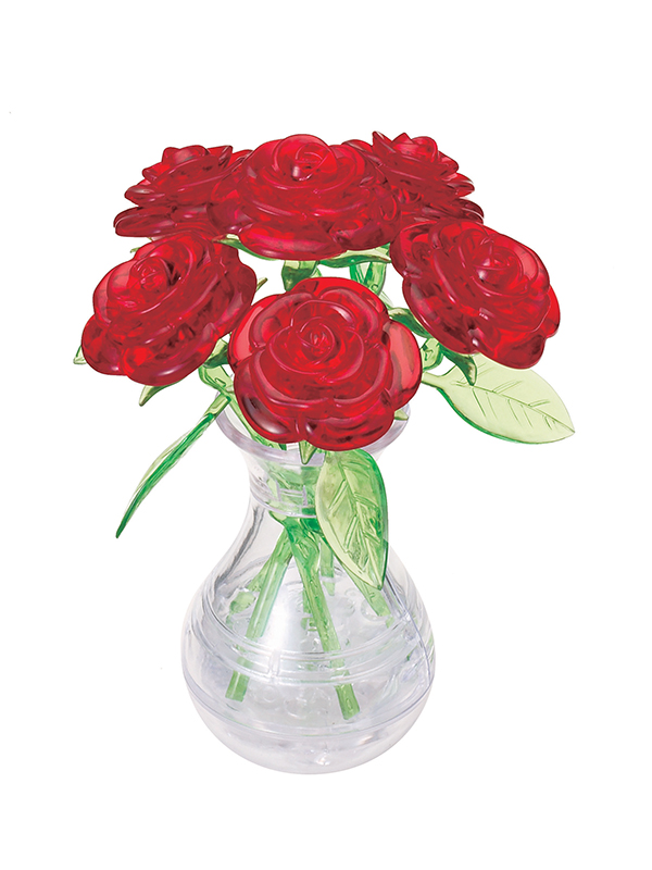 Red Roses (Κόκκινα Τριαντάφυλλα) - Κρυστάλλινο 3D Παζλ - 90152