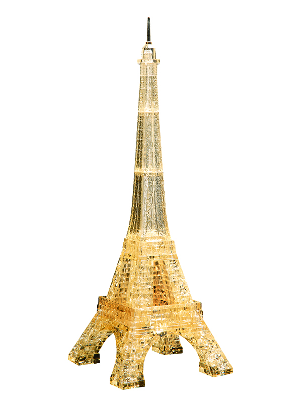 Eiffel Tower Golden (Χρυσός Πύργος του Άιφελ) - Κρυστάλλινο 3D Παζλ - 91107