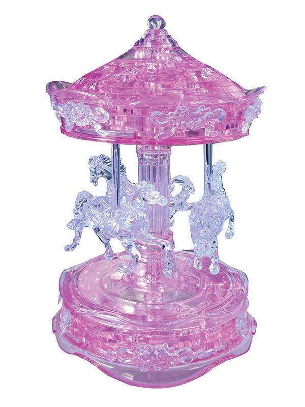 Carousel (Ροζ Καρουσέλ) - Κρυστάλλινο 3D Παζλ - 91209