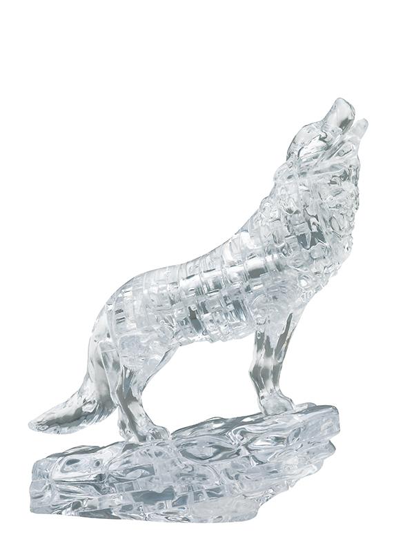 Wolf (Διαφανής Λύκος) - Κρυστάλλινο 3D Παζλ - 90155