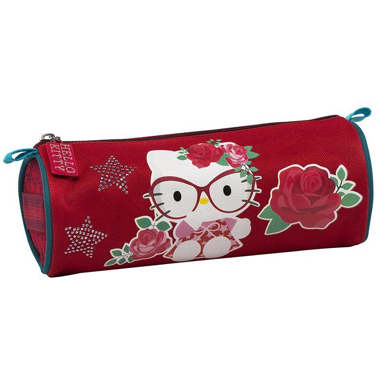 Red Hello Kitty Κασετίνα στρογγυλή - 198322