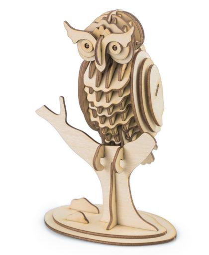 3D Ξύλινη Κατασκευή - Owl - TG252