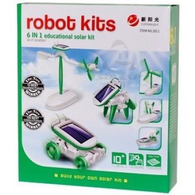 Solar Robot Kit (Ηλιακά ρομπότ) 6 σε 1 σετ - 2011
